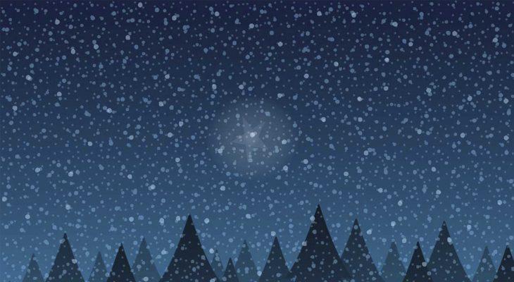 Tähti talvisella taivaalla