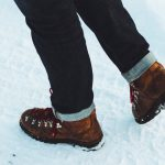 Jalat lumihangessa