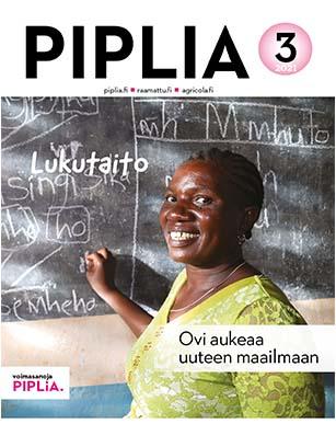 Lukutaitoteemaisen Piplia-lehden numero 3/2021 kansi